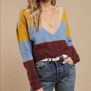 For Love and Lemons Wellesley striped sweater